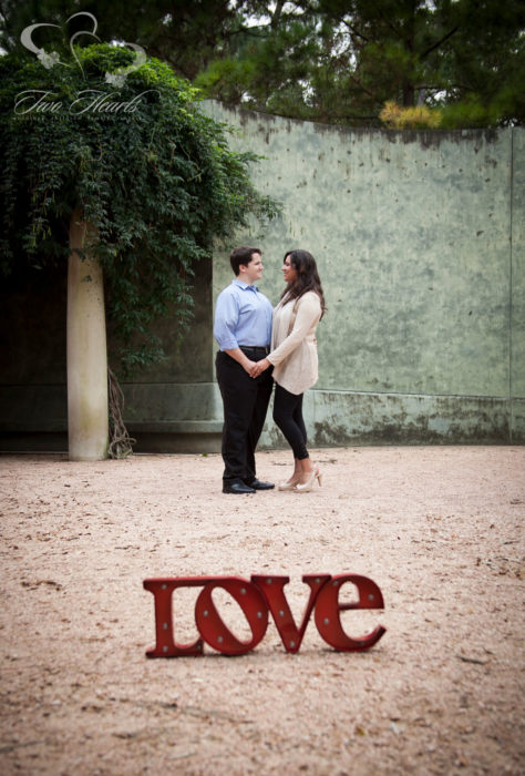 Two Hearts Houston Engagement Photography