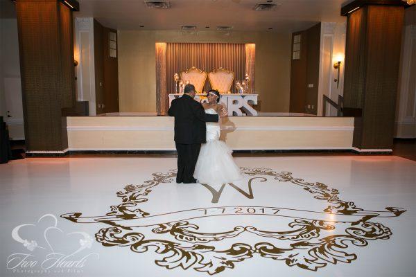 Crystal Ballroom Wedding Photography - Two Hearts Studios