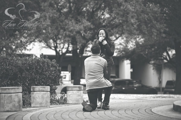 Hermann Park Proposal Photographers - Two Hearts Studios